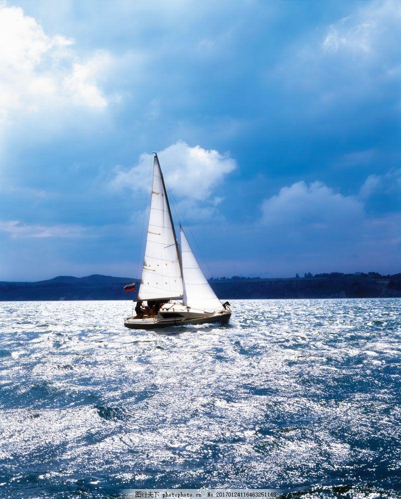 海面帆船 海面帆船图片素材 船舶 扬帆起航 船只 轮船 航行 航海