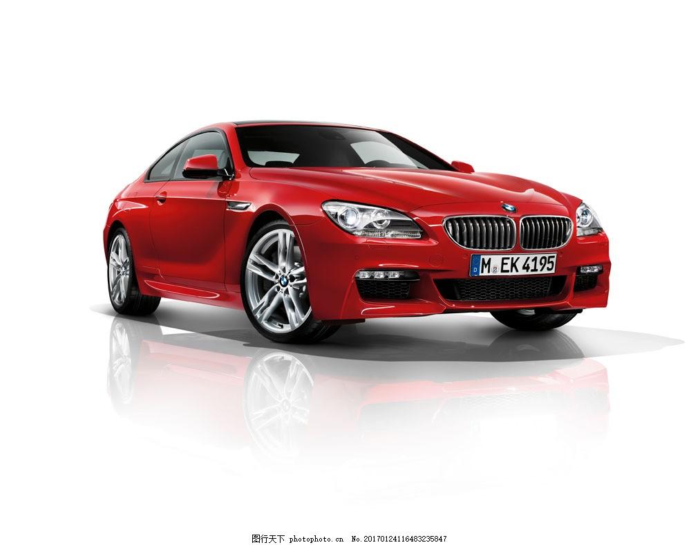 红色宝马轿车 红色宝马轿车图片素材 汽车 工业生产 小车 交通工具