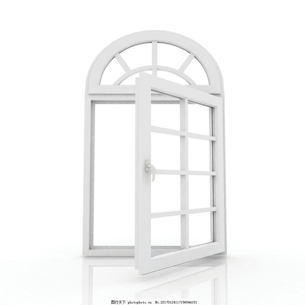 白色欧式窗户图片