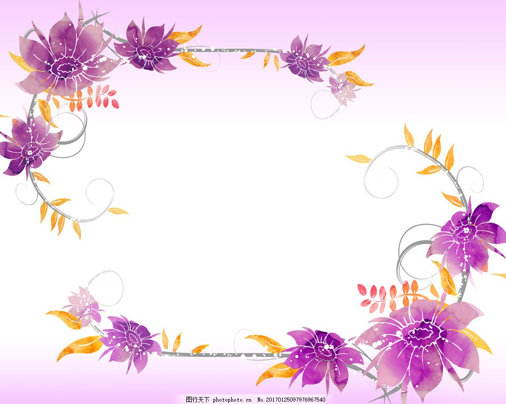 花瓣画框场景装饰画