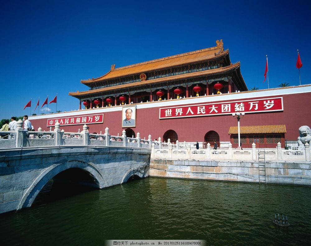 北京天安门摄影 北京天安门摄影图片素材 天空 宁静 城市 旅游