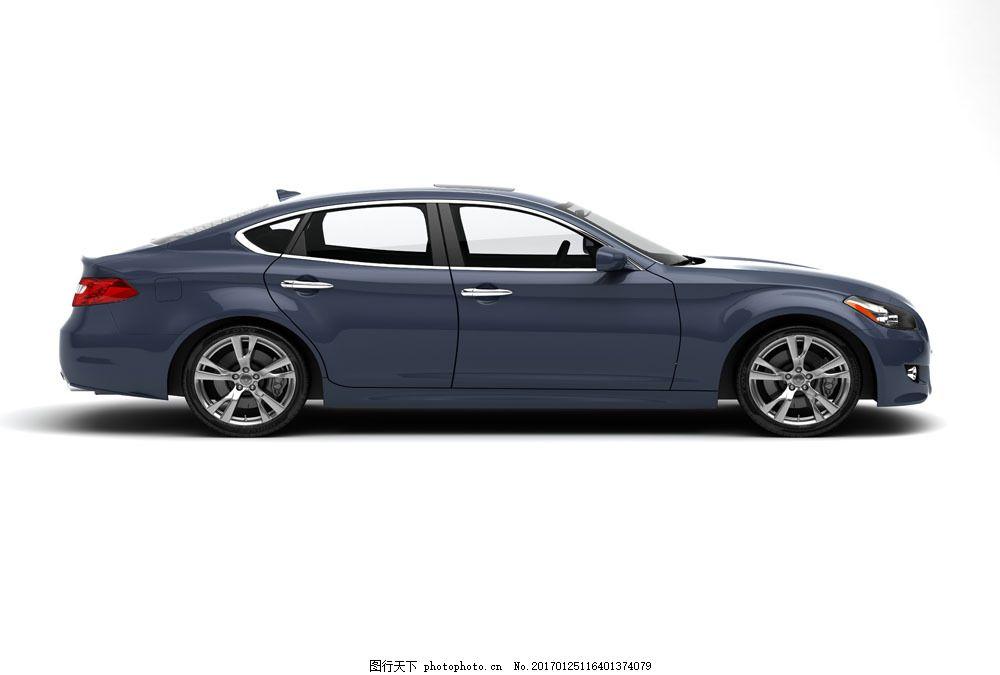 蓝色轿车侧面摄影 蓝色轿车侧面摄影图片素材 汽车 蓝色汽车 私家车