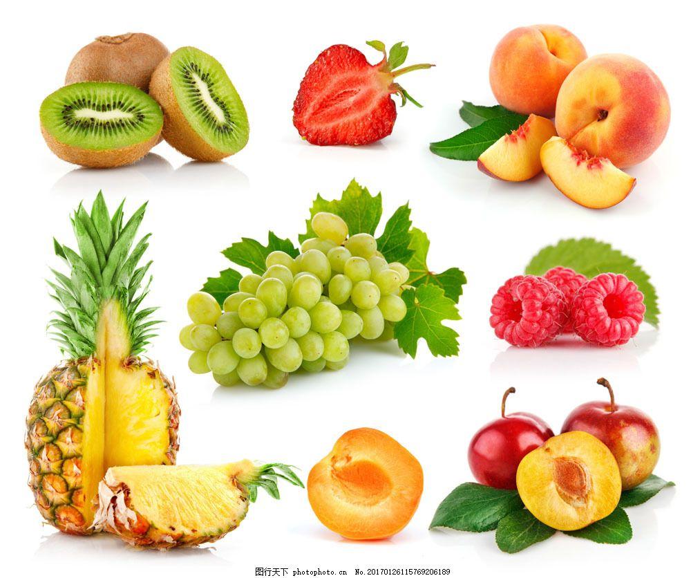 各种切开的水果图片图片