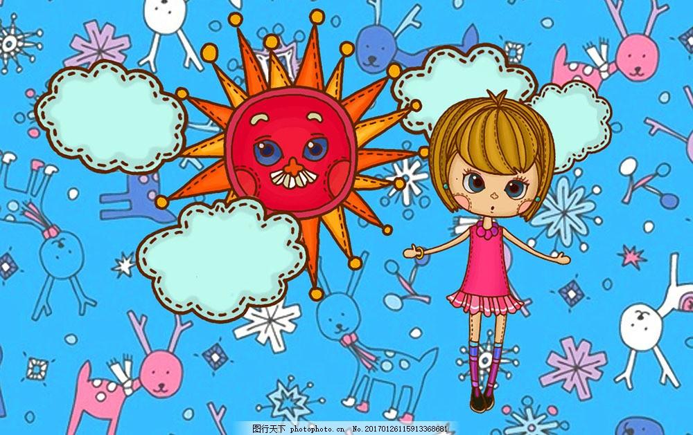 油画 油画写生 卡通动漫美女 卡通插画 卡通女孩 人物油画 绘画艺术图片
