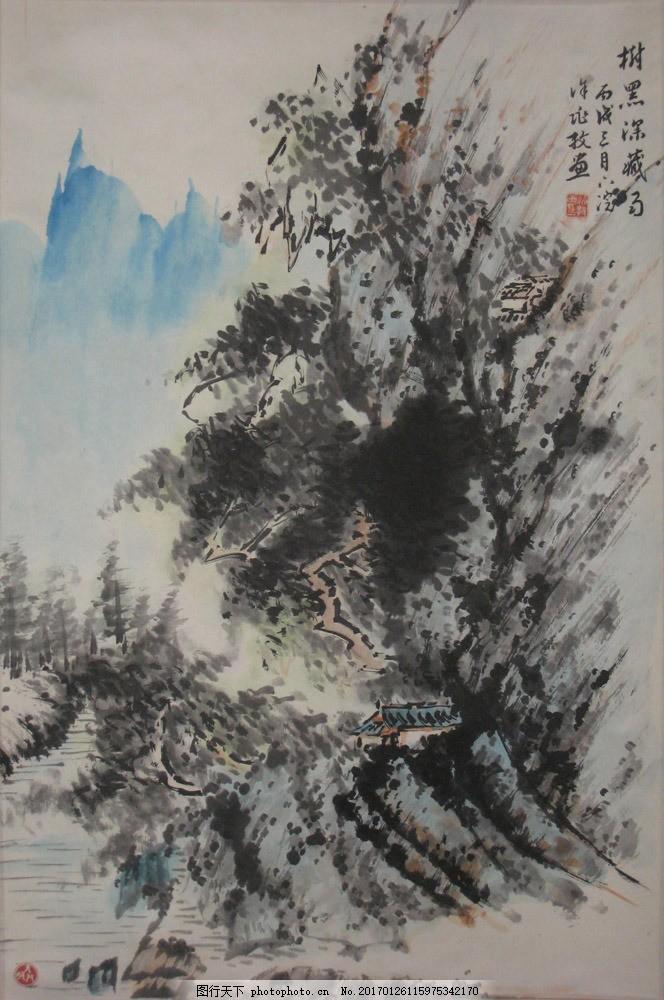 风景写意画图片素材 水墨画 名画 山水画 风景国画 国画 中国画 绘画