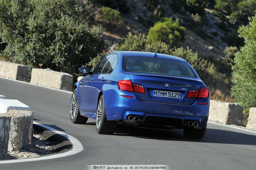 蓝色宝马汽车 蓝色宝马汽车图片素材 汽车摄影 汽车素材 高档汽车