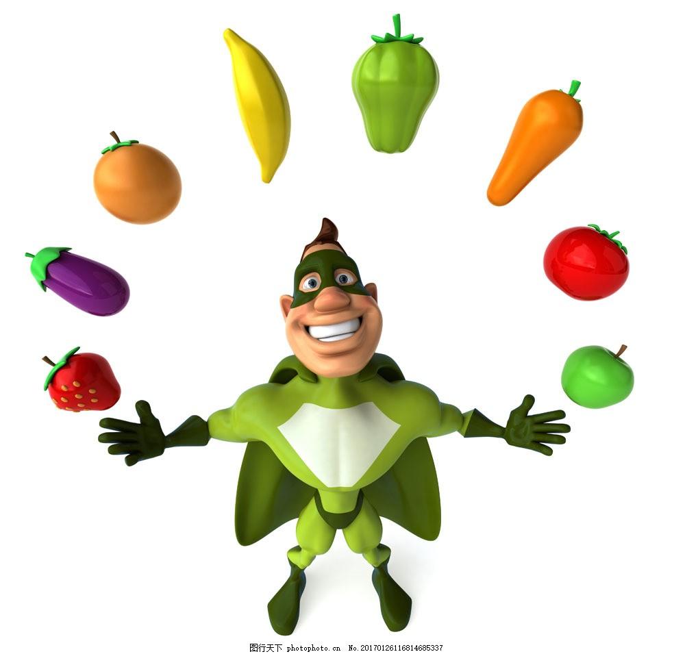 蔬菜超人 蔬菜超人图片素材 卡通 角色 动漫 动画 卡通动物 生物世界
