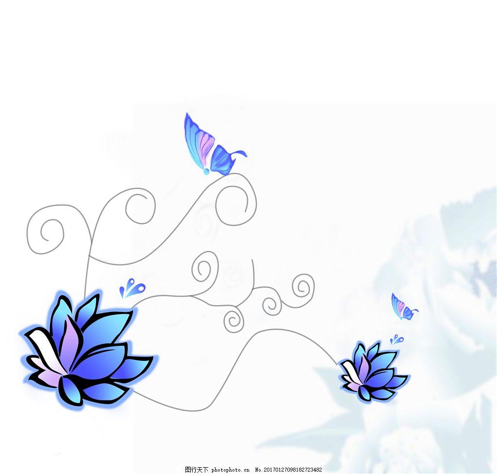 手绘花卉吊顶图案