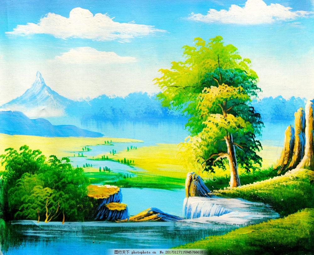 风景油画 风景油画图片素材 名画 艺术 绘画 文化艺术 艺术品