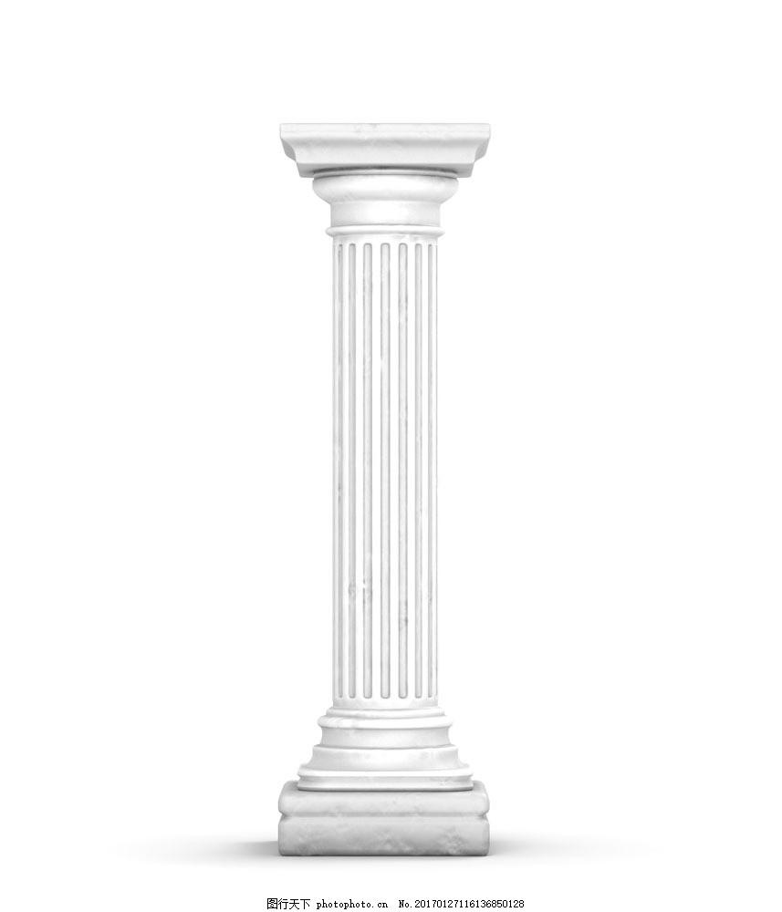 线条型罗马柱 线条型罗马柱图片素材 石柱 仿古建筑 古典建筑 欧式