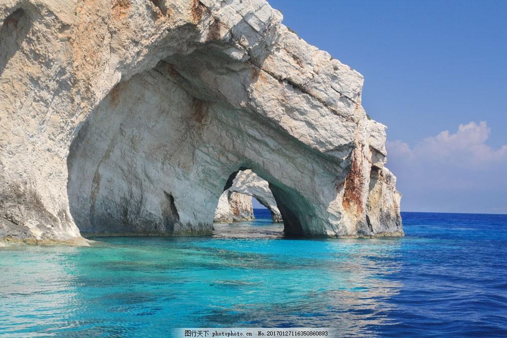 大海与石头 大海与石头图片素材 蓝天 白云 山水风景 风景图片