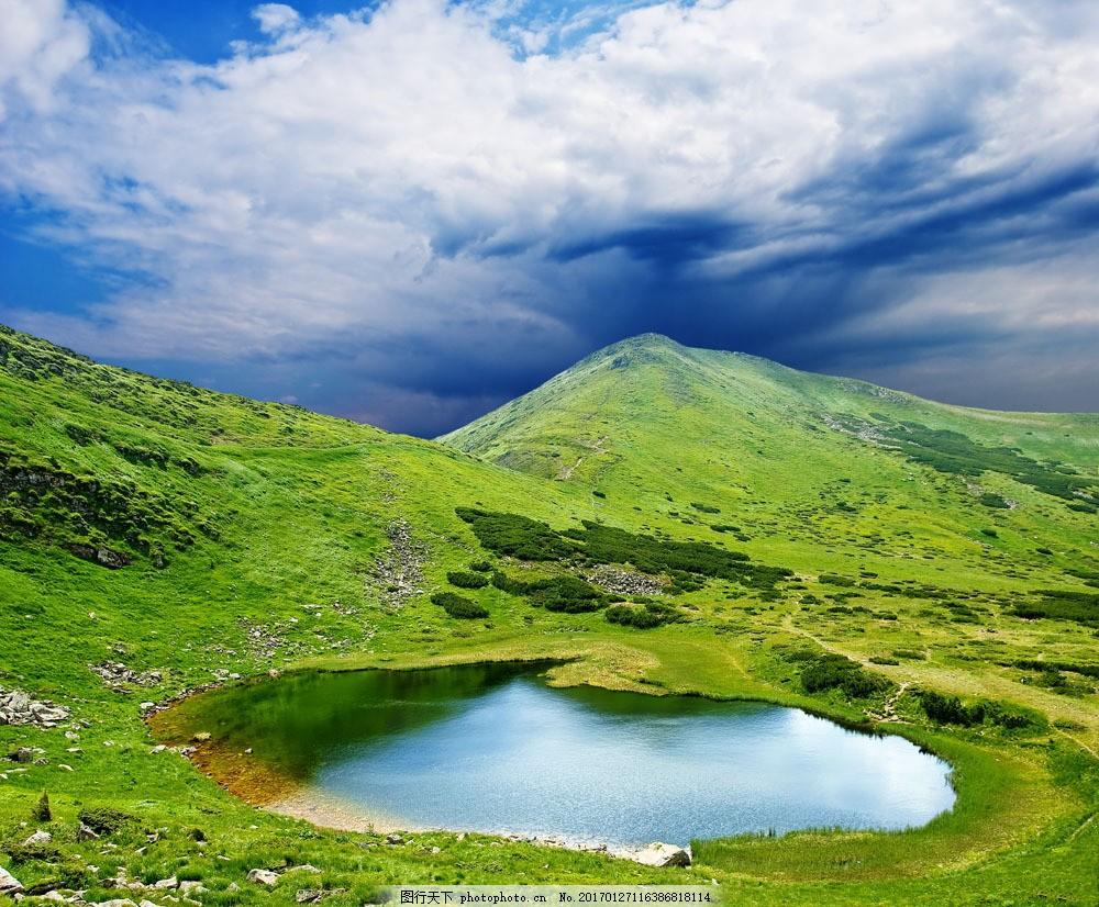 大山里的水潭自然风景 大山里的水潭自然风景图片素材 高清图片 横