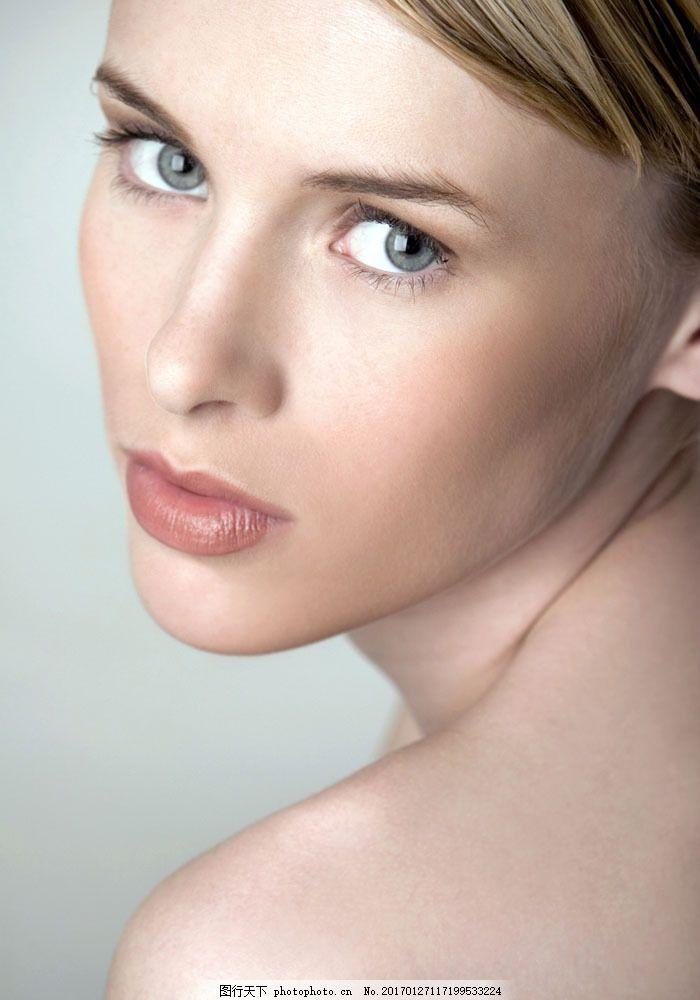 美容模特面部特写 美容模特面部特写图片素材 女性 外国美女 时尚美女