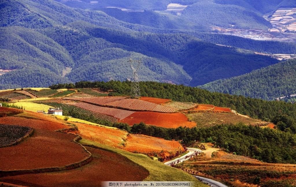 唯美 风景 风光 旅行 自然 云南 东川 红土地 东川红土地 红土地地质