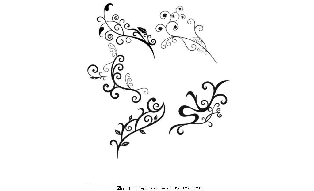 时尚花纹藤蔓藤条ps笔刷