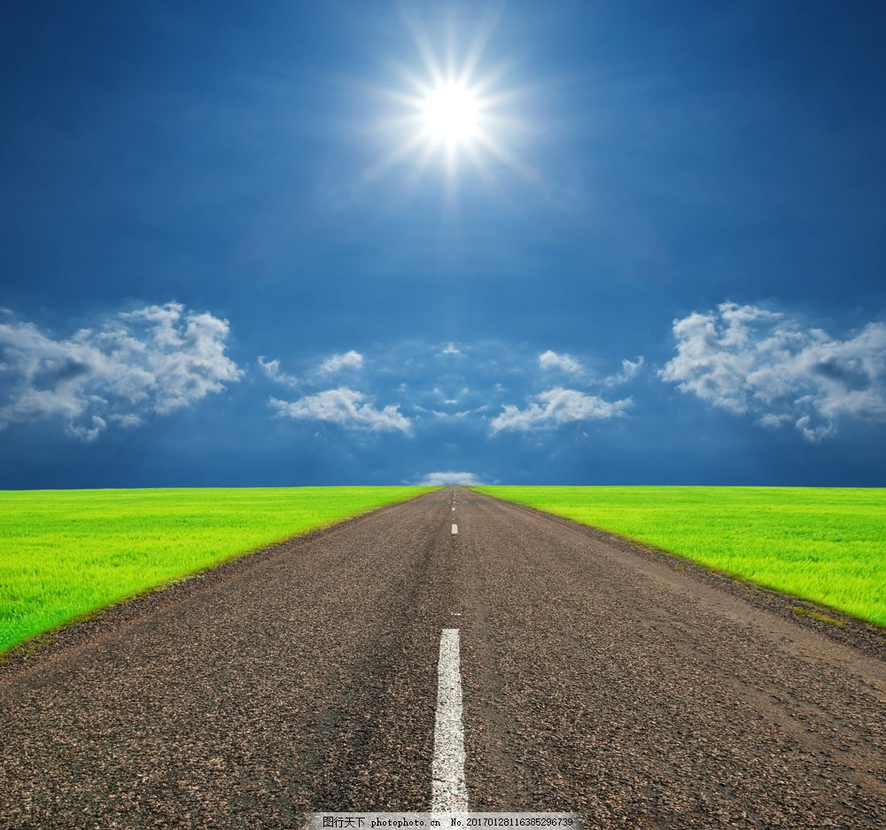 自然风景  一望无际的公路图片素材 图片 图片素材 高清图片 奇妙大