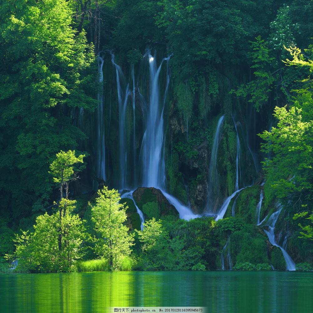 瀑布风景图片