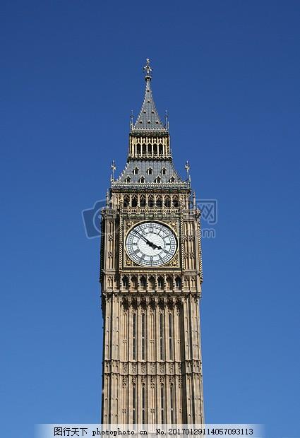 伦敦 大本钟 英格兰 塔 钟表 老钟 体系结构 太阳 教堂 红色