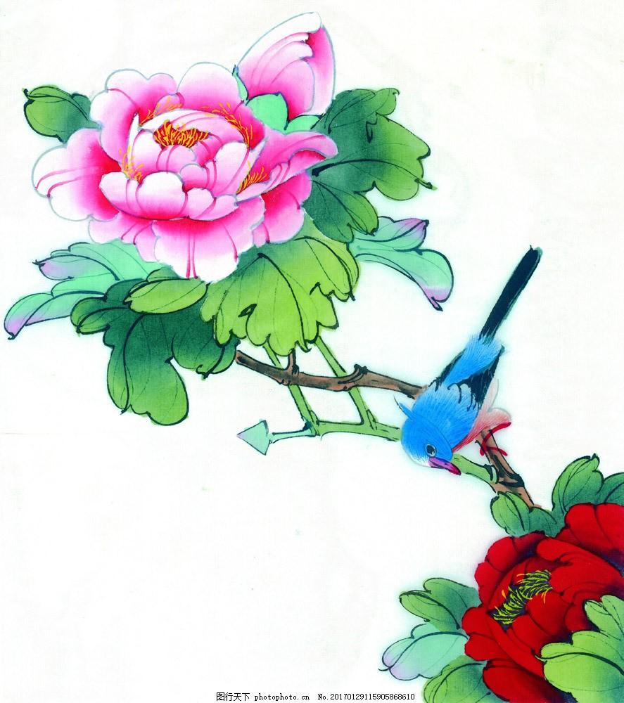 工笔画花鸟画 工笔画花鸟画图片素材 水墨画 名画 风景国画 国画