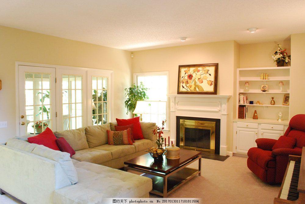 暖色调客厅效果图 暖色调客厅效果图图片素材 沙发 茶几 壁炉 欧式