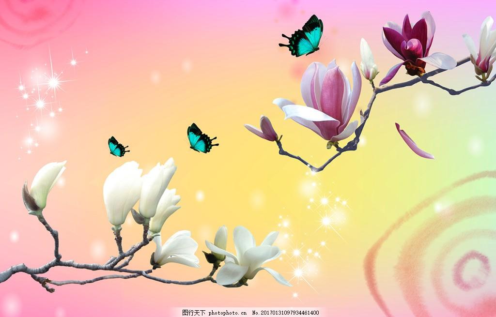 简约蝴蝶装饰画 背景 壁纸 风景 高分辨率图片 高清大图 建筑