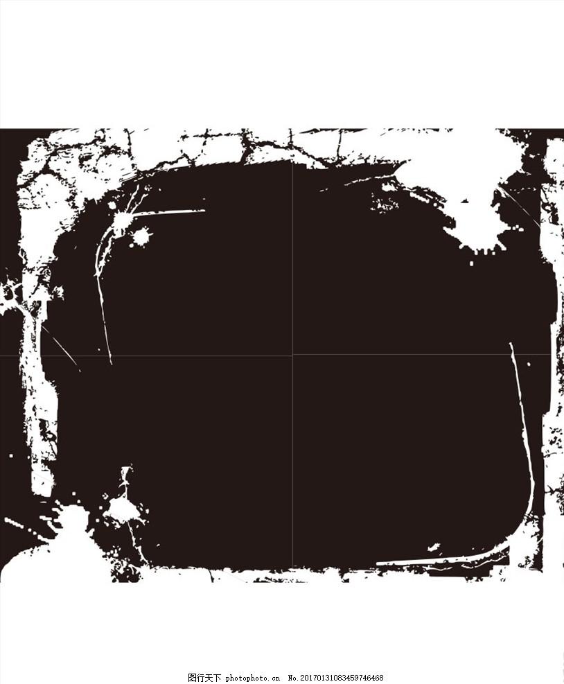 黑白 黑白色 墨迹 黑白墨迹 矢量 矢量素材 ai 矢量背景 矢量背景素材