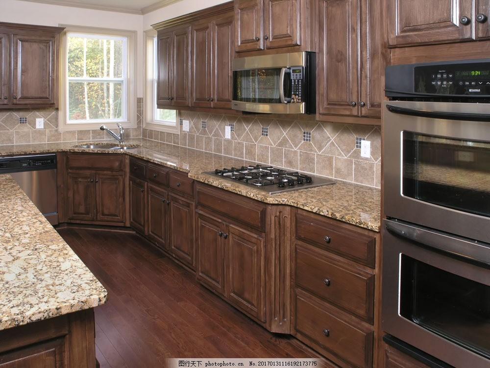 高档厨房 灶台 厨柜 欧式古典风格 时尚装饰 装修效果图 装饰