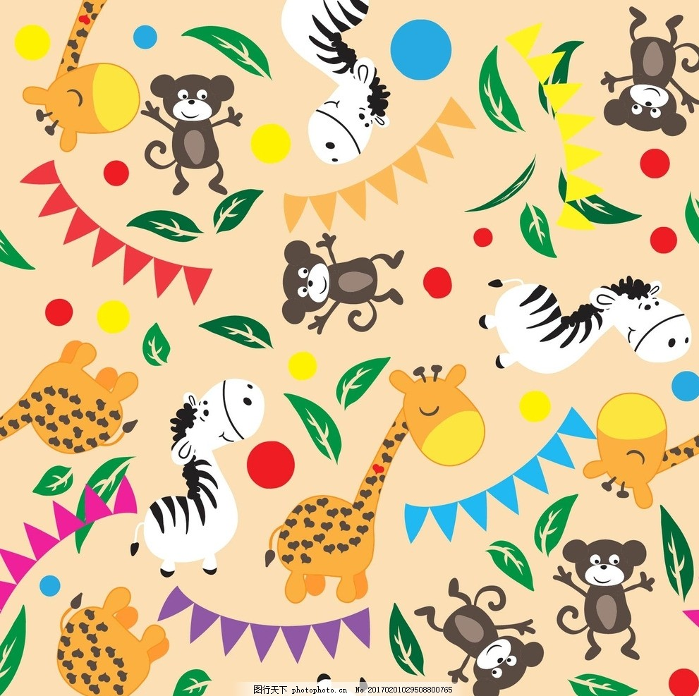 卡通动物母婴儿童宝宝背景 宝宝 宝贝 婴儿 儿童 孩子 幼儿园 小学生