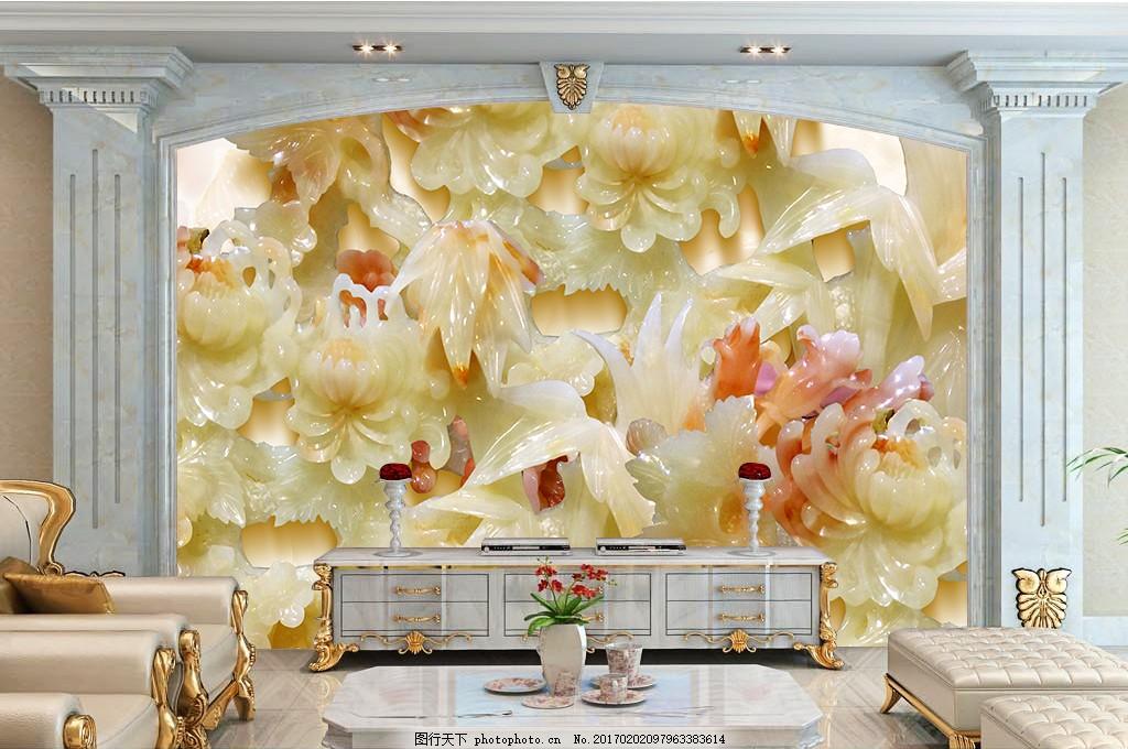 建筑 装饰 装饰设计 空间建筑 桌面 装修 无框画 石纹浮雕背景墙