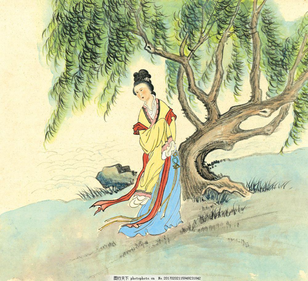 油画 装饰画 国画 无框画 插画 手绘 素描 底纹背景 彩绘 中国风 抽