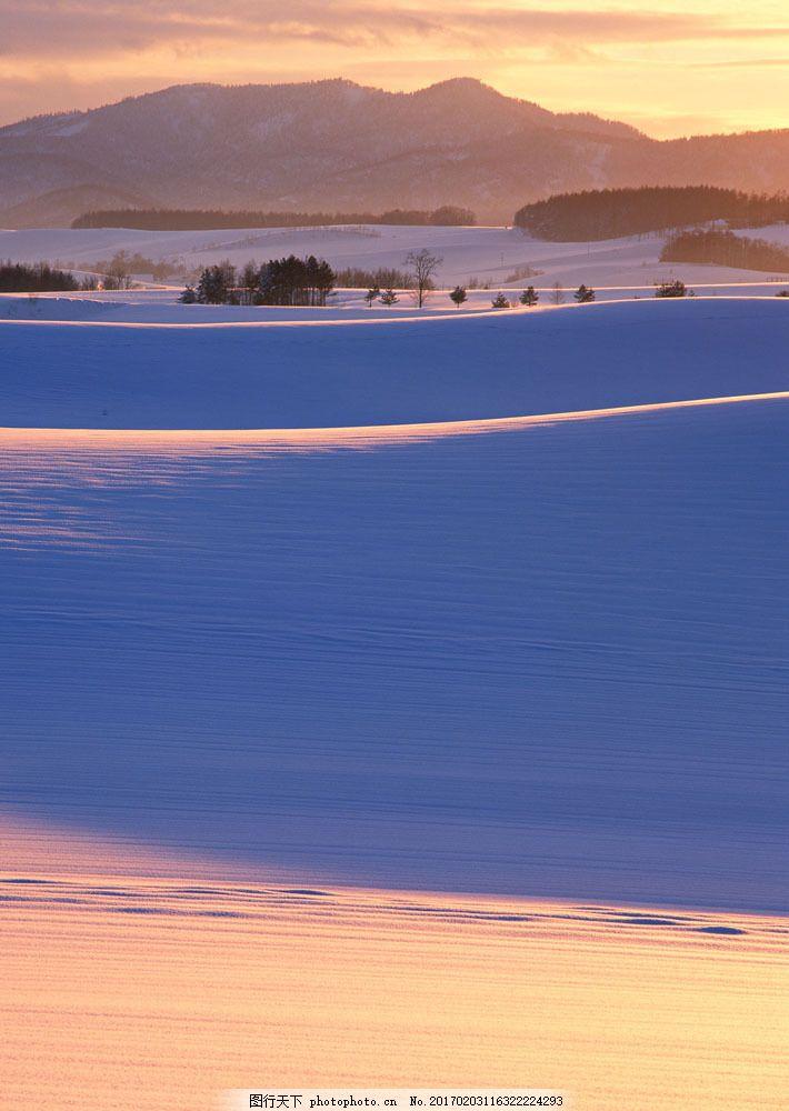 冬天雪景摄影图片素材 四季风景 美丽风景 美景 冬天雪景 雪地 积雪