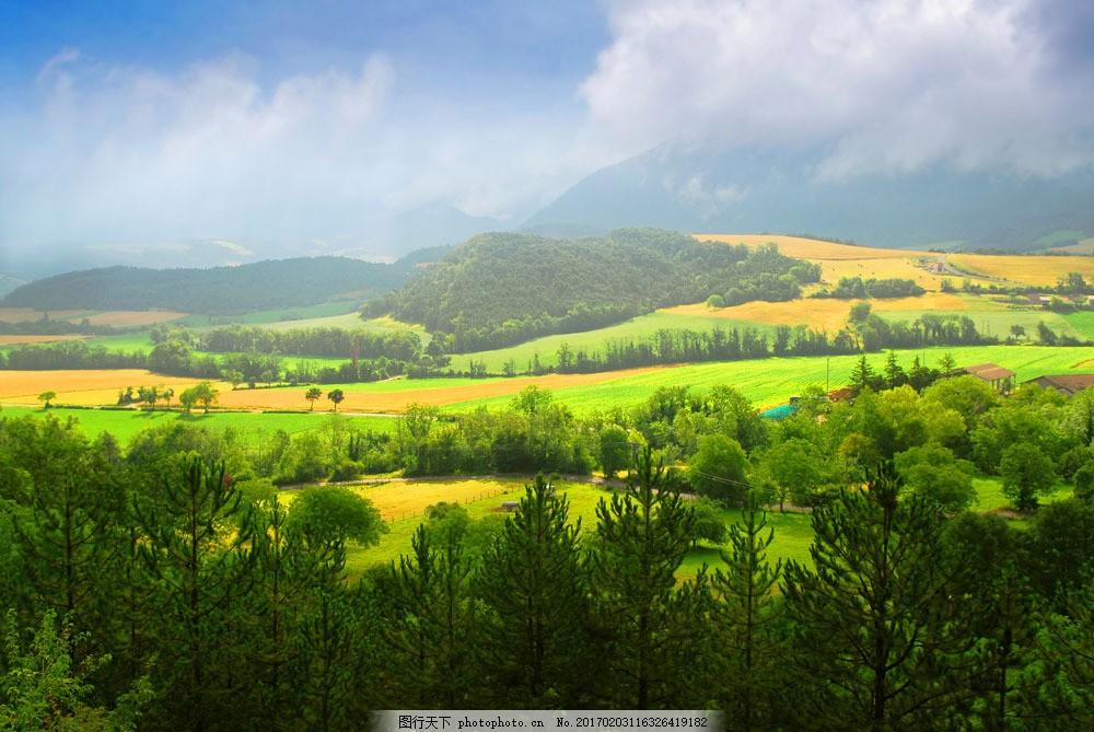 美丽田园乡村风景图片