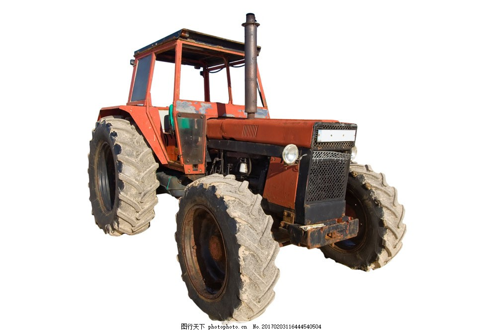 老式农用拖拉机图片