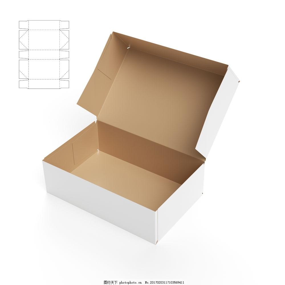 长方形纸盒效果图图片