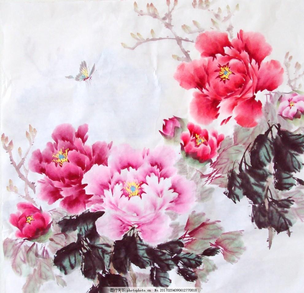 牡丹 国画 水墨画 写意牡丹 牡丹国画 艺术绘画 文化艺术 绘画书法