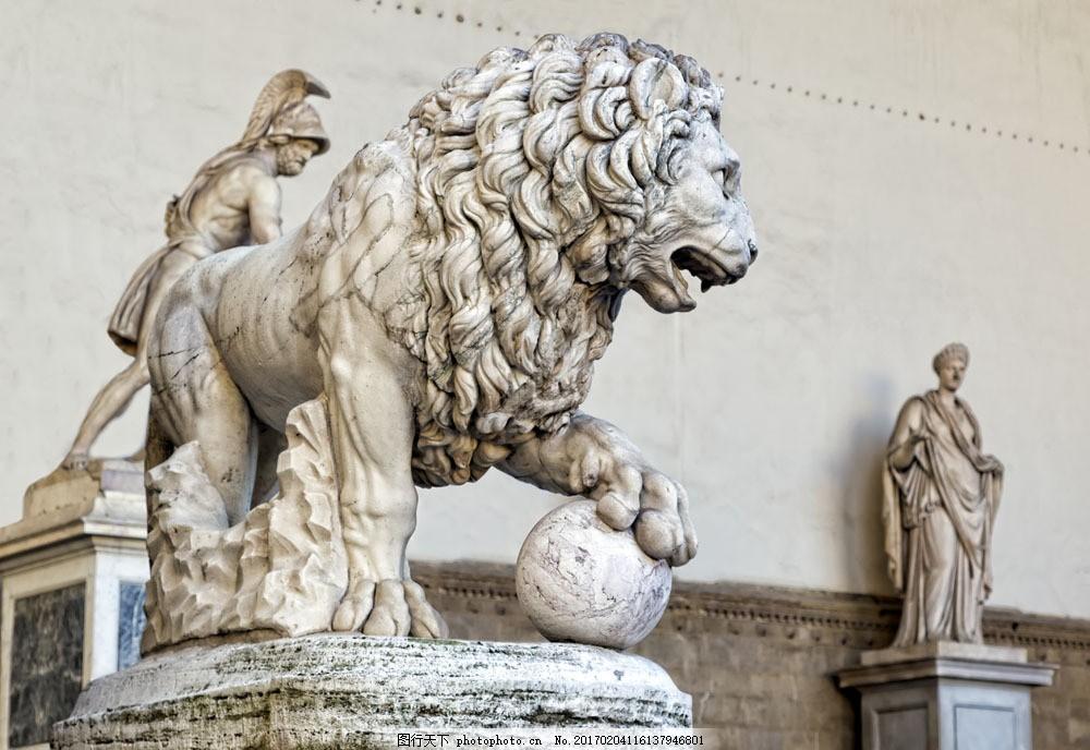 意大利石狮雕塑图片