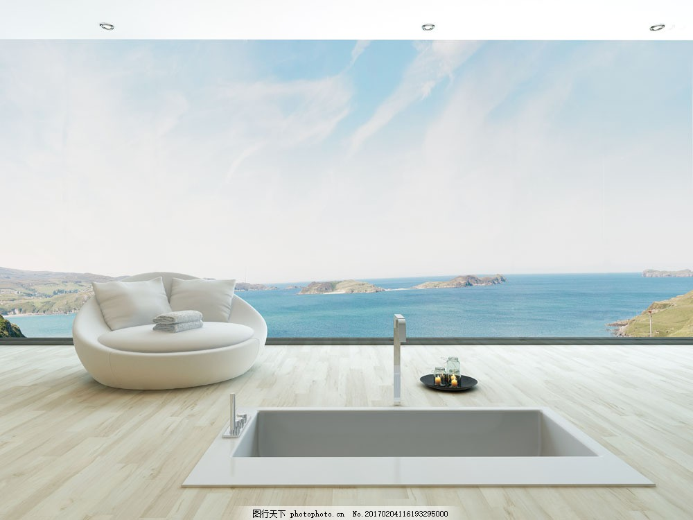海边敞开式客厅 海边敞开式客厅图片素材 装修 装饰 室内设计 室内