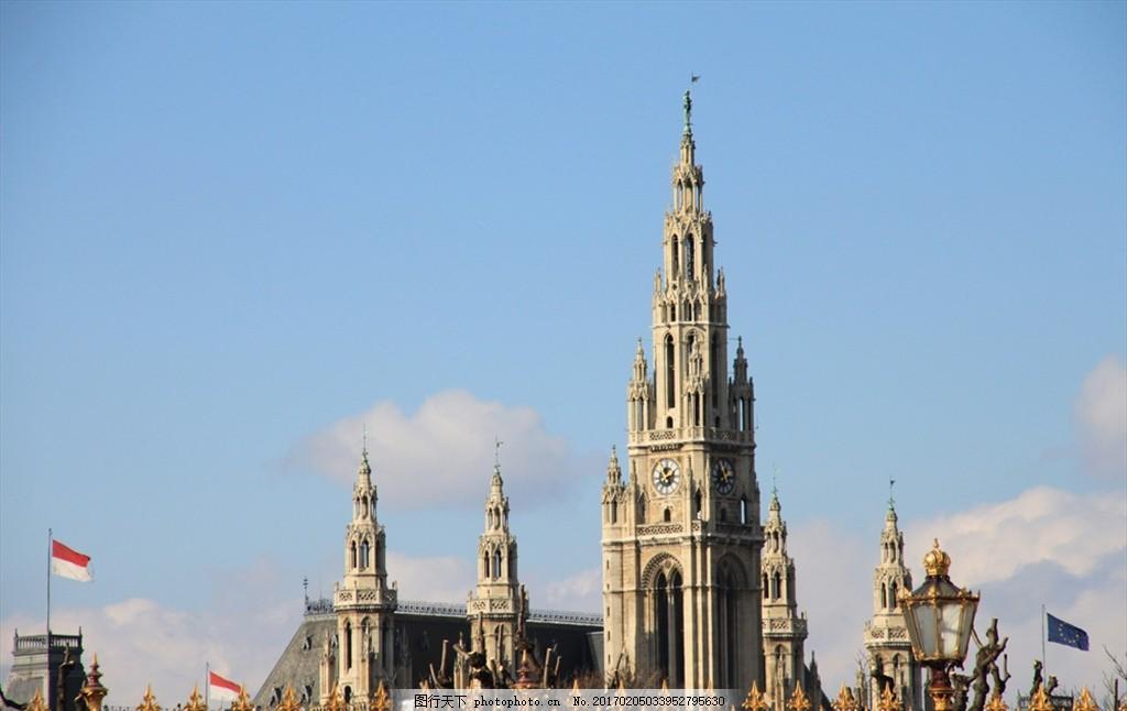 欧洲风景 雕塑 街景 建筑 天空 建筑景观 摄影 国外旅游图片