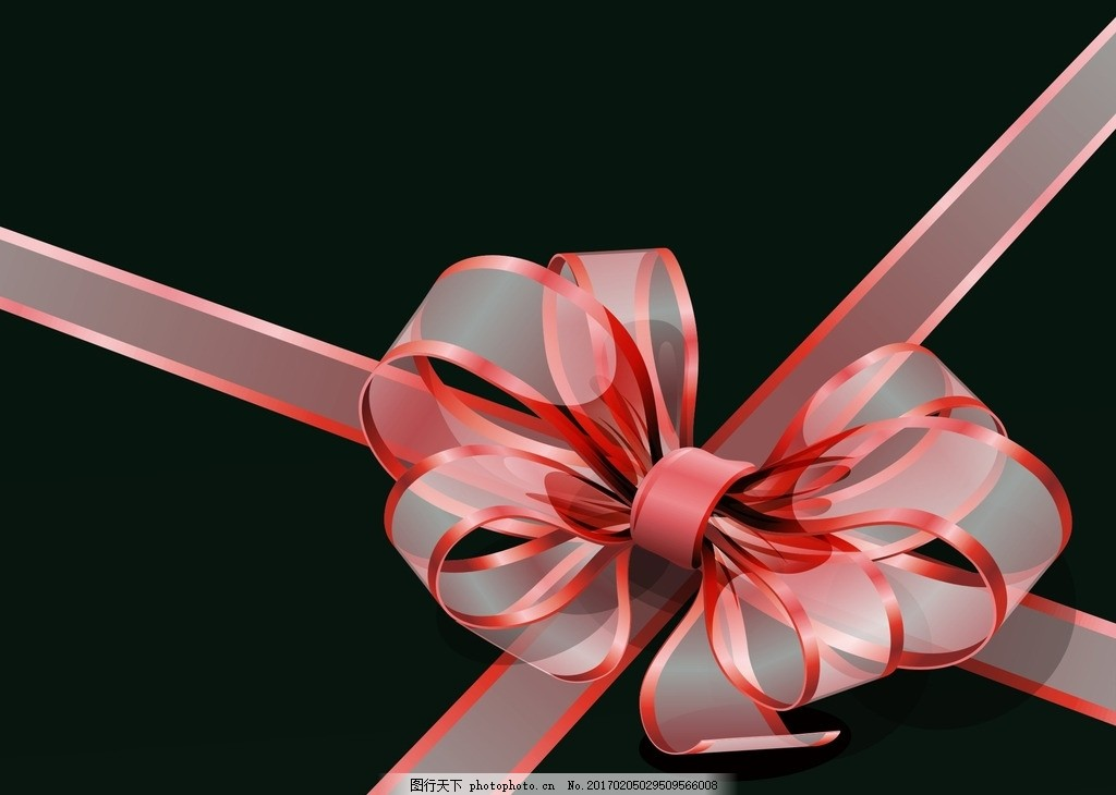 透明丝带结 透明蝴蝶结 矢量丝带素材 丝带花素材 蝴蝶结大全 丝带花