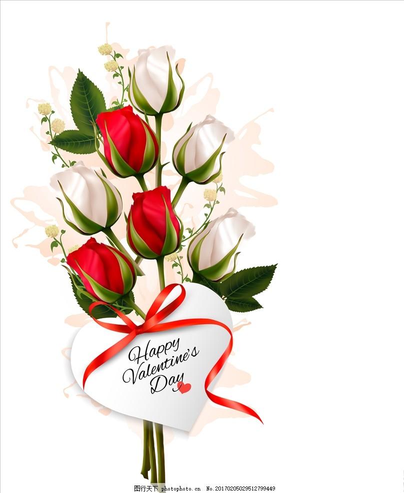 玫瑰花 情人节素材 情人节海报 浪漫情人节 情人节背景 情人节贺卡