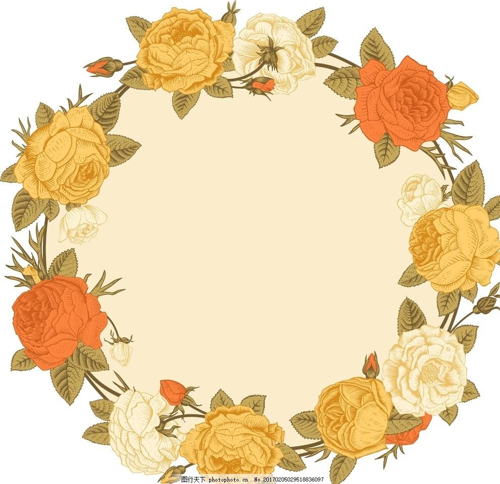 矢量素材 矢量 素材 手绘花朵 迎宾牌 婚庆素材 酒水牌 结婚卡片 绘画
