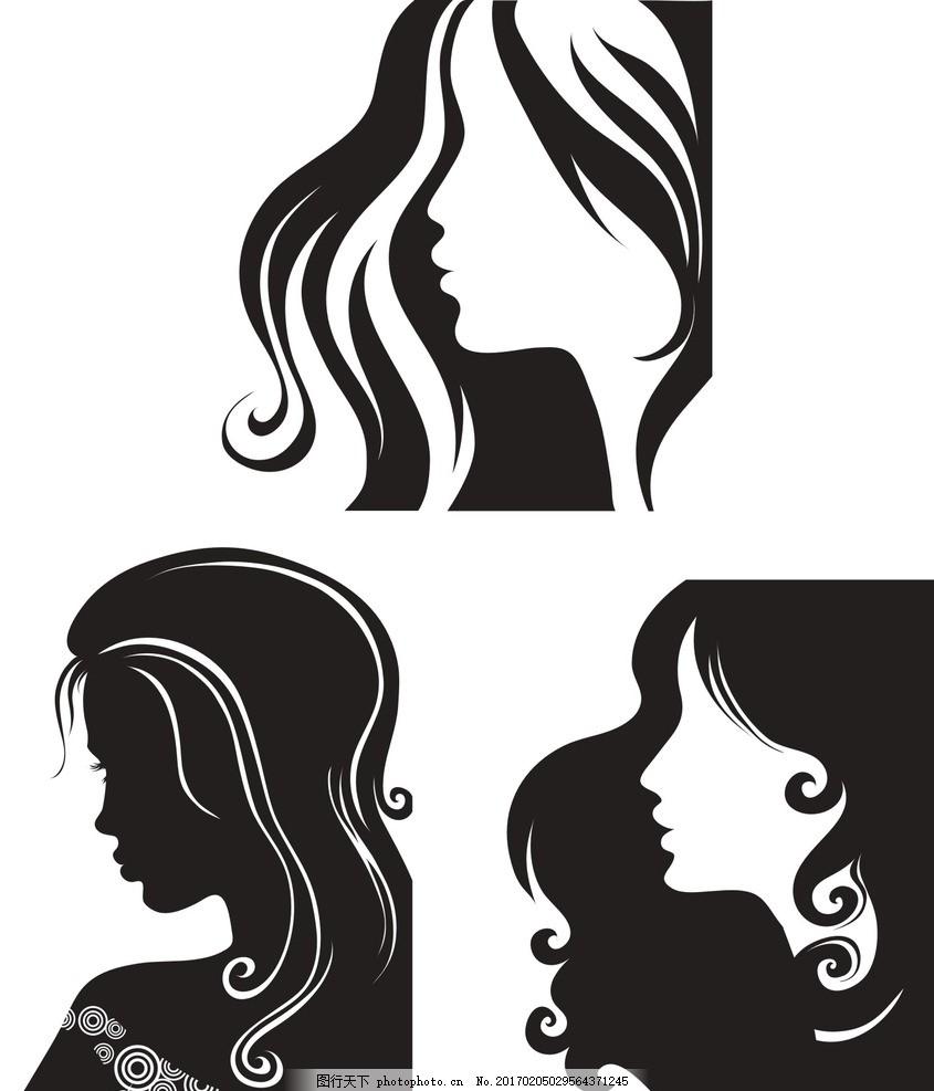 女人头像 女头像 手绘 彩绘 时尚 美女头像矢量 女人头像设计