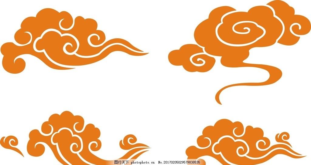 云朵 底纹 封面设计 云纹矢量素材 条纹线条 海浪 古典云纹 祥云底纹