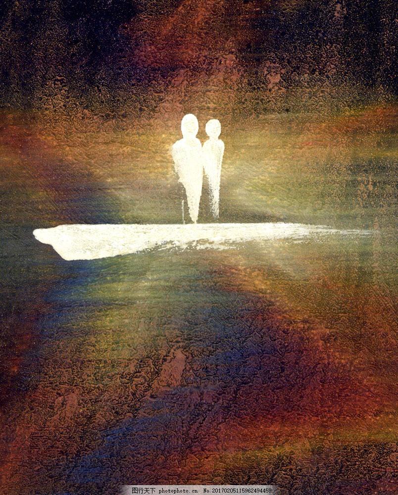 创意抽象油画图片素材 情侣 笔触 抽象画 油画艺术 绘画艺术 装饰画