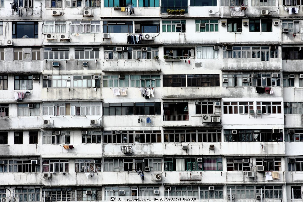 老居民楼图片素材 老居民楼 楼房 老房子 窗户 窗子 空调 其他类别