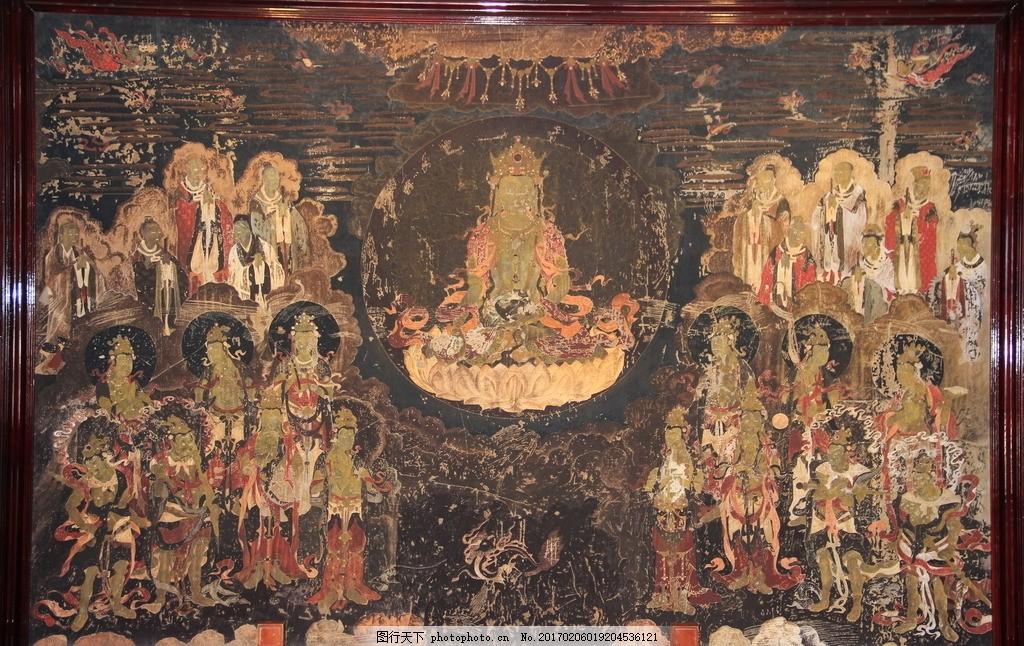 壁画 丽江幕王府 纳西文化 佛教壁画 彩绘 飞天 敦煌 摄影