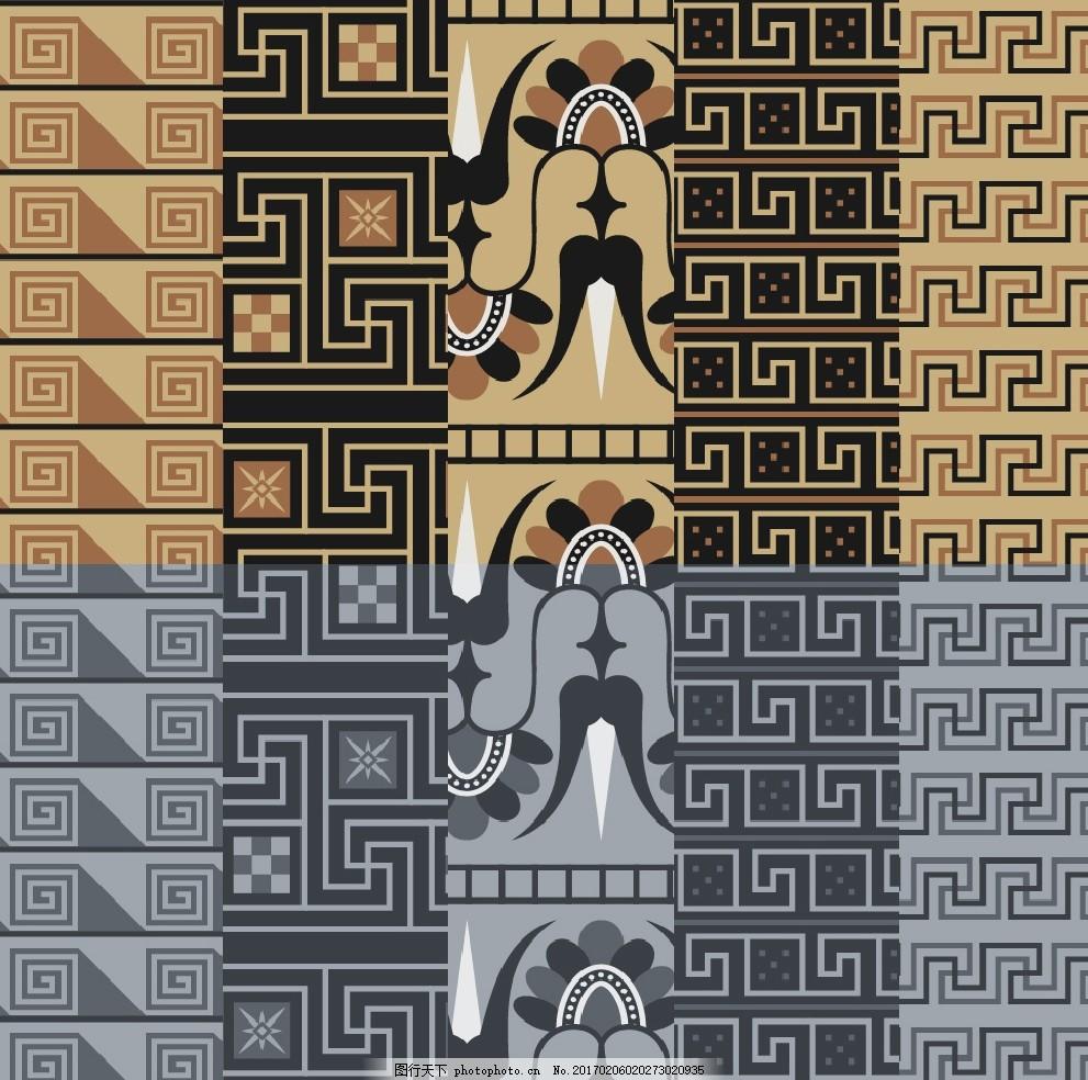 欧式复古外墙砖贴图 背景墙 纹理 花纹 布纹 无缝贴图 绘画 贴图 线条