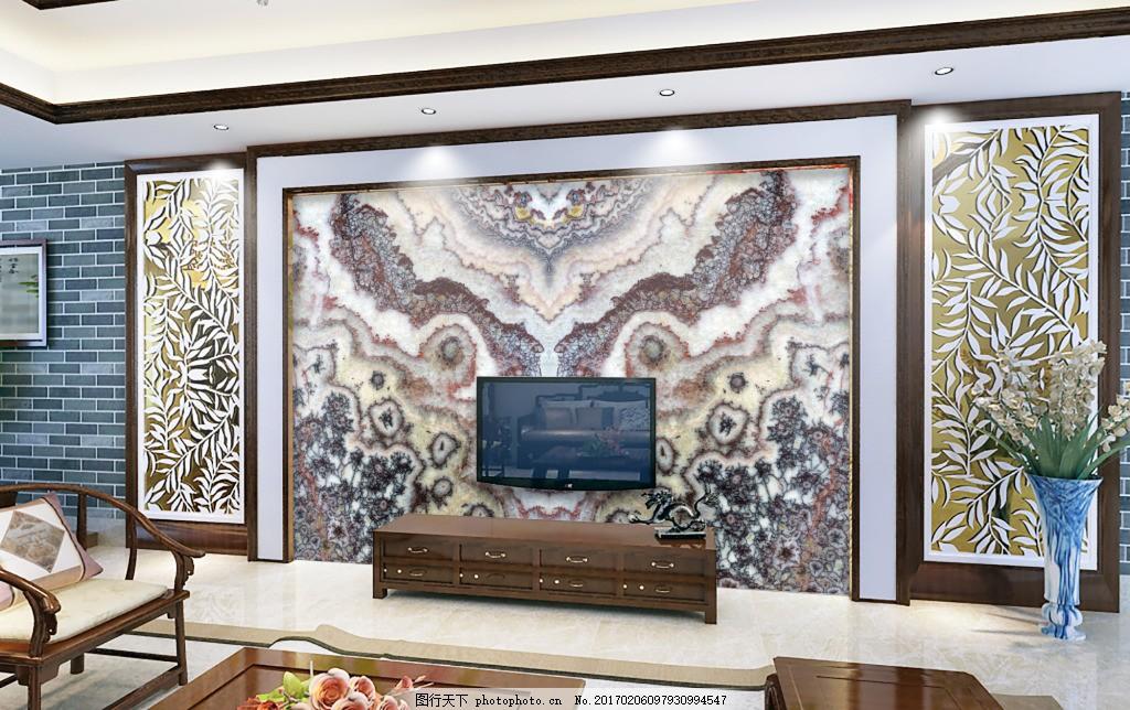 欧式豪华大理石背景墙设计素材