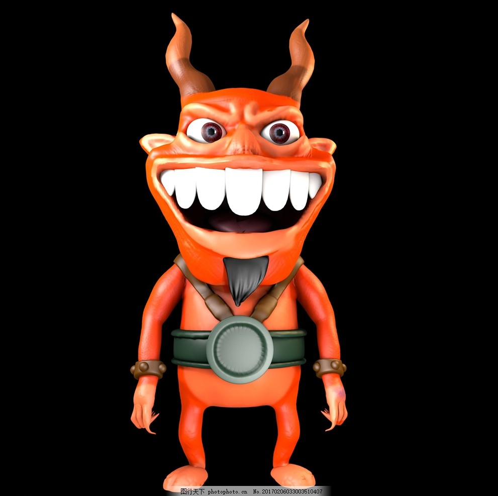 卡通人物 卡通恶魔 卡通 人物 q版恶魔 设计 psd分层素材 其他 72dpi