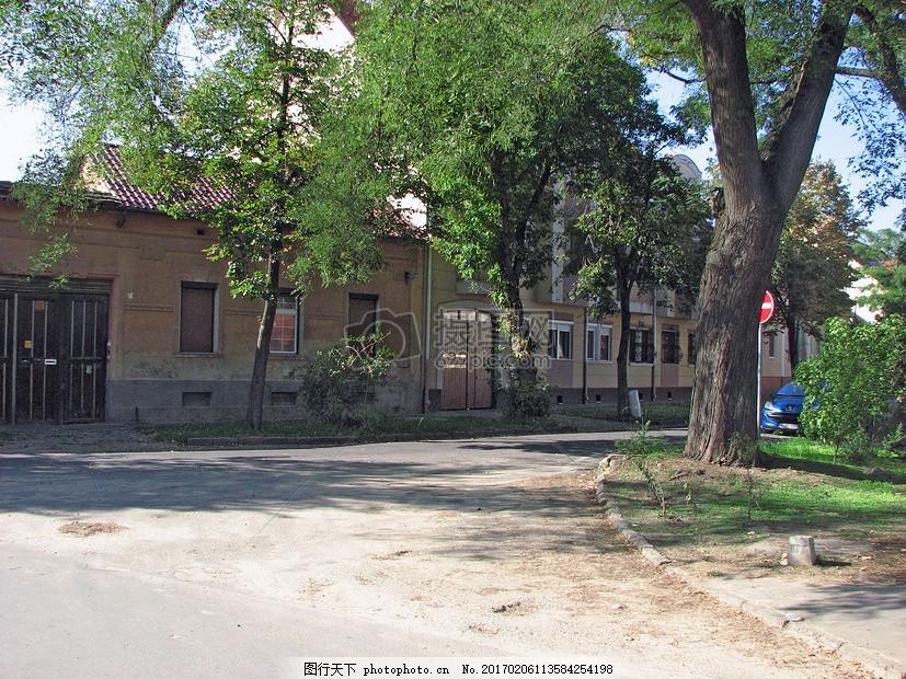 西方古老房子街拍